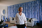 Annie Selke is photographed in her home in the Marrakesh neighborhood in Palm Desert, California April 6, 2017. Selke is the founder of home-textile companies Pine Cone Hill and Dash &amp; Albert Rug Company, as well as the fabrics collection Annie Selke Home.<br /> <br /> CREDIT: Brinson+Banks