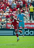 10 July 2010: Colorado Rapids defender Drew Moor #3 and Toronto FC forward Maicon Santos #29 in action during a game between the Colorado Rapids and Toronto FC at BMO Field in Toronto..Toronto FC won 1-0.