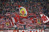 Münchner Fans feiern - 09.12.2017: Eintracht Frankfurt vs. FC Bayern München, Commerzbank Arena