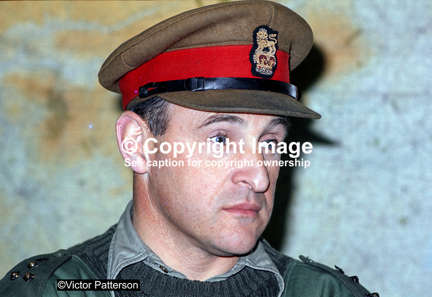 Brigadier Frank Kitson, British military 'counter insurgency' expert, who served in N Ireland. Ref: 197111450b..Copyright Image from Victor Patterson, 54 Dorchester Park, Belfast, UK, BT9 6RJ..Tel: +44 28 9066 1296.Mob: +44 7802 353836.Voicemail +44 20 8816 7153.Skype: victorpattersonbelfast.Email: victorpatterson@mac.com.Email: victorpatterson@ireland.com (back-up)..IMPORTANT: If you wish to use this image or any other of my images please go to www.victorpatterson.com and click on the Terms & Conditions. Then contact me by email or phone with the reference number(s) of the image(s) concerned.
