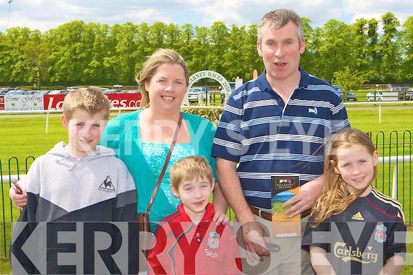 Dara, Lynda, Paul, Dan and Ciara Foran Killarney enjoying a family day out at the Killarney Races on Sunday..