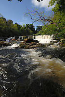 Water falls at Aysgarth, North Yorkshire,England