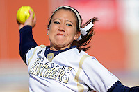 13 February 2010:  FIU's Jennifer Gnaidek (18) pitches as the FIU Golden Panthers defeated the Southern Illinois Salukis, 10-6, at the University Park Stadium in Miami, Florida.