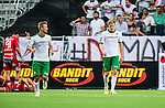 Stockholm 2014-07-28 Fotboll Superettan Hammarby IF - Assyriska FF :  <br /> Hammarbys Lars S&auml;tra Saetra deppar<br /> (Foto: Kenta J&ouml;nsson) Nyckelord:  Superettan Tele2 Arena Hammarby HIF Bajen Assyriska AFF depp besviken besvikelse sorg ledsen deppig nedst&auml;md uppgiven sad disappointment disappointed dejected