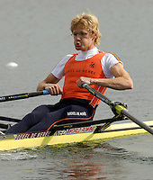 Munich, GERMANY, 2006, FISA, Rowing, World Cup, NED LM1X, Gerard van der Linden,  held on the Olympic Regatta Course, Munich, Thurs. 25.05.2006. © Peter Spurrier/Intersport-images.com,  / Mobile +44 [0] 7973 819 551 / email images@intersport-images.com.[Mandatory Credit, Peter Spurier/ Intersport Images] Rowing Course, Olympic Regatta Rowing Course, Munich, GERMANY