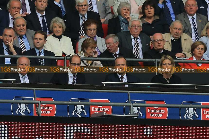 Ed Woodward gives a smile just after Crystal Palace take the lead in the FA Cup final during Crystal Palace vs Manchester United, Emirates FA Cup Final Football at Wembley Stadium on 21st May 2016