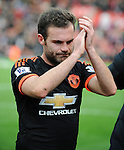 Juan Mata of Manchester United applauds the fans at the end of the game<br /> - Barclays Premier League - Stoke City vs Manchester United - Britannia Stadium - Stoke on Trent - England - 26th December 2015 - Pic Robin Parker/Sportimage