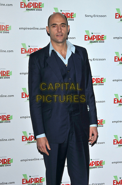 MARK STRONG.At the Empire Film Awards,.Grosvenor House Hotel, London, England, March 9th 2008..half length.CAP/PL.?PL/Capital Pictures