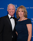 "Chesley ""Sully"" Sullenberger and his wife, Lorrie, arrive for the 2019 White House Correspondents Association Annual Dinner at the Washington Hilton Hotel on Saturday, April 27, 2019.<br /> Credit: Ron Sachs / CNP<br /> <br /> (RESTRICTION: NO New York or New Jersey Newspapers or newspapers within a 75 mile radius of New York City)"