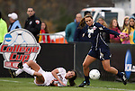 03 December 2010: Notre Dame's Melissa Henderson (6) gets around Ohio State's Liz Sullivan (7). The Notre Dame Fighting Irish defeated the Ohio State University Buckeyes 1-0 at WakeMed Stadium in Cary, North Carolina in an NCAA Women's College Cup semifinal game.