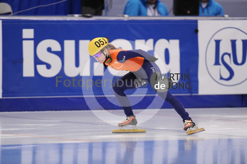 "SHORT TRACK: MOSCOW: Speed Skating Centre ""Krylatskoe"", 14-03-2015, ISU World Short Track Speed Skating Championships 2015, Ranking Races, Yara VAN KERKHOF (#051 | NED), ©photo Martin de Jong"
