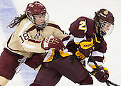 Ashley Motherwell (BC - 18), Aleksandra Vafina (UMD - 29) - The visiting University of Minnesota Duluth Bulldogs defeated the Boston College Eagles 3-2 on Thursday, October 25, 2012, at Kelley Rink in Conte Forum in Chestnut Hill, Massachusetts.