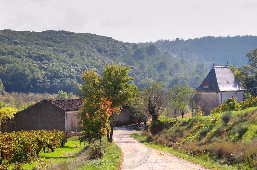 Domaine Borie la Vitarèle Causses et Veyran St Chinian. Languedoc. The winery building. France. Europe.