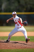 Illinois State Redbirds relief pitcher Lucas Hall (36) delivers a pitch during a game against the Michigan State Spartans on March 8, 2016 at North Charlotte Regional Park in Port Charlotte, Florida.  Michigan State defeated Illinois State 15-0.  (Mike Janes/Four Seam Images)