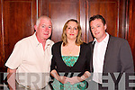 Badminton: Enjoying themselves at Listowel Badminton Clubs social on Saturday night in The Listowel Arms Hotel are: Anthony O'Dwyer, Tipperary; Tracy Butler, Wicklow; & Tony Maher, Dublin.
