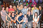 8842-8845.PARTY ON THE DOUBLE: Michael O'Leary and Paula Stack both from Castleisland (seated 2nd & 4th right) celebrated their 30th birthday's together with family and friends in the Abbey Inn, Tralee last Saturday night.