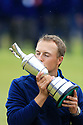 Jordan Spieth (USA) kisses the Claret Jug after the final round of  the 146th Open Championship played at Royal Birkdale, Southport,  Merseyside, England. 20 - 23 July 2017 (Picture Credit / Phil Inglis)