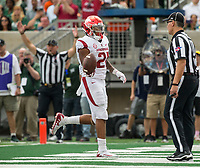 NWA Democrat-Gazette/BEN GOFF @NWABENGOFF<br /> Devwah Whaley, Arkansas running back, scores a touchdown in the 2nd quarter vs Colorado State Saturday, Sept. 8, 2018, at Canvas Stadium in Fort Collins, Colo.