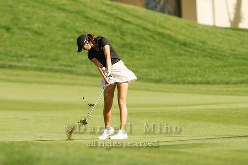 Apr. 1, 2006; Rancho Mirage, CA, USA; Michelle Wie hits an approach shot during the 3rd round of the Kraft Nabisco Championship at Mission Hills Country Club. ..Mandatory Photo Credit: Darrell Miho.Copyright © 2006 Darrell Miho .