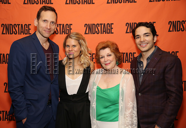 Stephen Kunken, Celia Keenan-Bolger, Anita Gillette, Juan Castano attends the Opening Night Party for 'A Parallelogram'  on August 2, 2017 at Havana Central in New York City.