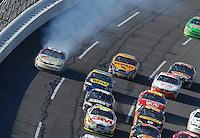 Apr 29, 2007; Talladega, AL, USA; Nascar Nextel Cup Series driver David Reutimann (00) blows his engine during the Aarons 499 at Talladega Superspeedway. Mandatory Credit: Mark J. Rebilas