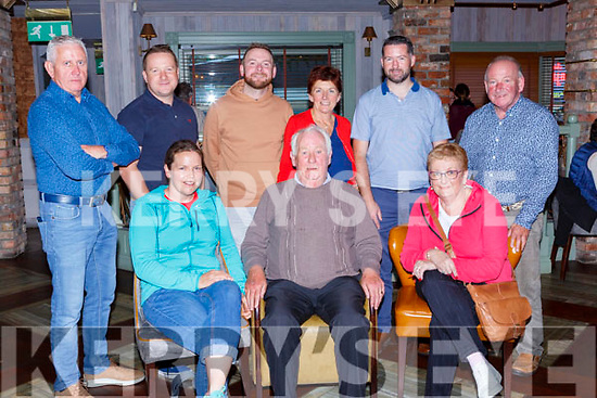 Kevin Quirke Woodlawn Road celebrated his 72th birthday with his friends in Kaynes bar on Monday evening front row l-r: Sheila O'Connor, Kevin Quirke and Claire O'Sullivan. Back row: Donie O'Sullivan, Dave O'Neill, Johnny O'Neill, Cathy Brosnan, PJ Lynch and John O'Neill
