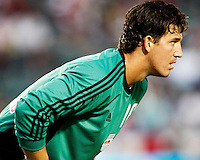 NY Red Bulls Goalkeeper, Jon Conway(18) focus on the action in front of him during the 1st half. Chivas USA  took on the NY Red Bulls on June 28, 2008 at the Home Depot Center in Carson, CA. The game ended in a 1-1 tie.