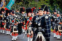 Lonach March. Lonach Highland & Friendly Society. The Lonach march precedes the Lonach Gathering at Bellabeg. www.dsider.co.uk whats on Strathdon guide