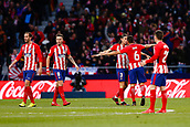 2nd December 2017, Wanda Metropolitano, Madrid, Spain; La Liga football, Atletico Madrid versus Real Sociedad; Filipe Luis Kasmirski (3) Atletico de Madrid's player celebrates the (1,1) after scoring his team´s goal