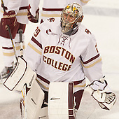 Brad Barone (BC - 29) - The Boston College Eagles defeated the visiting University of New Brunswick Varsity Reds 6-4 in an exhibition game on Saturday, October 4, 2014, at Kelley Rink in Conte Forum in Chestnut Hill, Massachusetts.
