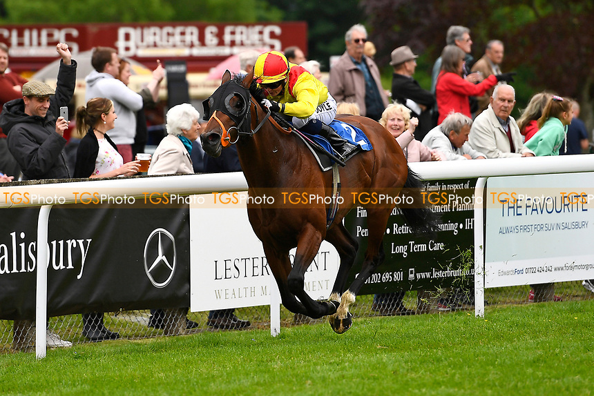 Winner of The Priority Mailing & Digital Print Claiming Stakes,Sans Souci Bay ridden by Holly Doyle and trained by Richard Hannon during Afternoon Racing at Salisbury Racecourse on 18th May 2017