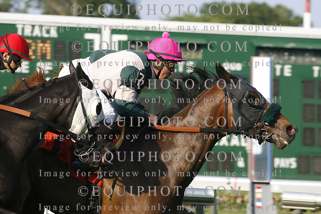 Racing Action at Monmouth Park Racetrack in Oceanport, N.J.  Photo by EQUI-PHOTO.