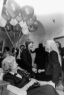 Las Vegas, Nevada, USA, December, 1982 - French Singer Sylvie Vartan with her mother and son David at a party while between performances at the MGM Hotel in Las Vegas.