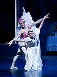"""English National Ballet. """"Ballet Russes"""" season at Sadlers Wells Theatre. """"Le Spectre de la Rose""""."""