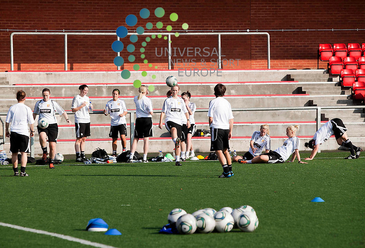 Training at Petershill Glasgow ahead of Scotland's first ever UEFA Women's Champions League match between Glasgow City FC and Valur Reykjavik.  .Picture: Johnny Mclauchlan/ Universal News and Sport (Europe)27/09/2011