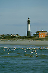 GA, Georgia, Tybee Island, lighthouse, 2005 .Image: gatybee101..Photo Copyright: Lee Foster, lee@fostertravel.com, www.fostertravel.com, (510) 549-2202.