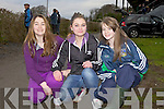 Sarah Murphy(Carrigkerry), Miamh McCourt(Abbeyfeale) and Muireann Kelly(Killcoleman) at the annual coursing meet last Saturday in Newcastlewest.