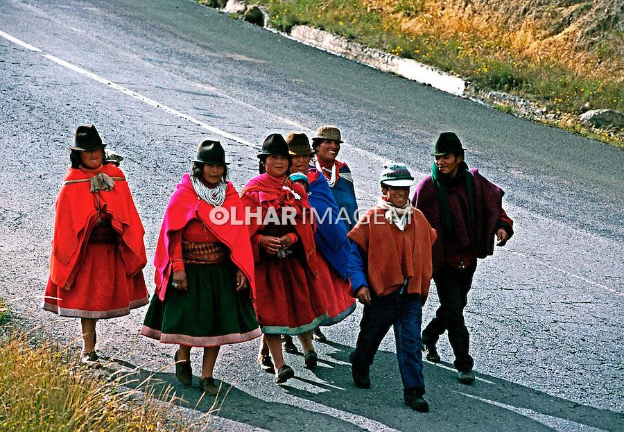 População indígena da Cordilheira dos Andes, Equador.<br /> Foto de Juca Martins.<br /> Data: 1997.