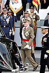 King Juan Carlos I of Spain attends the National Day Military Parad.October 12,2012.(ALTERPHOTOS/Acero)