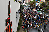 Las Vegas, NV- JULY 8: Atmosphere  attemps Evil Knievel's three most iconic stunts in three hours for Evil Live at Caesars Place in Las Vegas, NV on July 8, 2018. <br /> CAP/MPI/DAM<br /> &copy;DAM/MPI/Capital Pictures