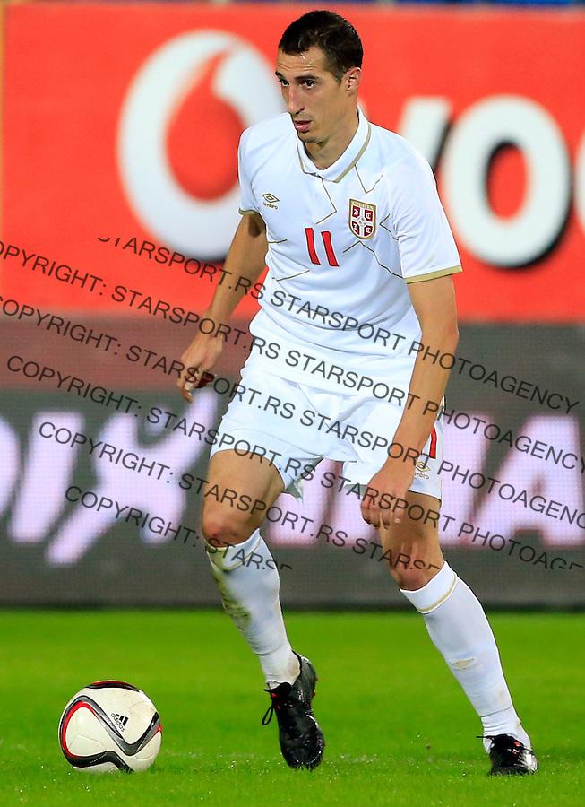 Fudbal<br /> Prijateljski mec-Friendly match<br /> Srbija v Grcka<br /> Radosav Petrovic<br /> Chania, 17.11.2014.<br /> foto: Srdjan Stevanovic/Starsportphoto &copy;