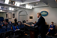 United States President Donald J. Trump speaks during a news conference in the Brady Press Briefing Room of the White House in Washington, D.C., U.S., on Friday, May 22, 2020. Trump ordered states to allow churches to reopen from stay-at-home restrictions imposed to combat the coronavirus outbreak, saying he would override any governor who refuses. <br /> Credit: Andrew Harrer / Pool via CNP / MediaPunch