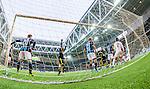 Stockholm 2014-04-16 Fotboll Allsvenskan Djurg&aring;rdens IF - AIK :  <br /> AIK:s Martin Lorentzson g&ouml;r 1-0 p&aring; nick bakom Djurg&aring;rdens m&aring;lvakt Kenneth H&ouml;ie H&oslash;ie<br /> (Foto: Kenta J&ouml;nsson) Nyckelord:  Djurg&aring;rden DIF Tele2 Arena AIK jubel gl&auml;dje lycka glad happy remote remotekamera