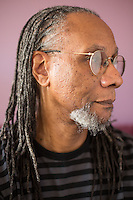Portrait of Poet Nate Mackey for INDY Week