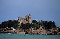 Europe/France/Bretagne/22/Côtes d'Armor/Côte de granit rose/env Perros-Guirec: Château de Costaeres (XIXème)