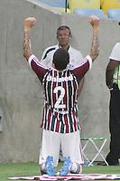 RIO DE JANEIRO, RJ, 05.03.2014 - Bruno do Fluminense comemora seu gol, o terceiro da equipe tricolor, durante o jogo contra o Friburguense pela décima segunda rodada do Campeonato Carioca no Maracanã. (Foto. Néstor J. Beremblum / Brazil Photo Press)