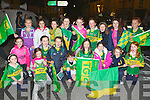 Laune Rangers footballers cheering on the Kerry ladies at the homecoming in Killorglin on Monday evening was front row l-r: Niamh Moriarty, Ciara O'Brien, Orla O'Brien, Joey Joy, Alanna O'Sullivan, Ryan O'Sullivan, Maggie West, Cora Diggin, Roisin Farrell, Holly Clifford. Back row: Cara and Orla Browne, Nicole Moriarty, Aoife Murphy, Fodhla Houlihan, Laura Brennan, Orla Murphy, Amber Ferris and Tara Clifford..