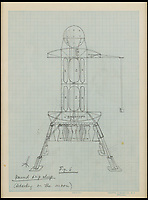 Fly Me To The Moon - Wernher von Braun's moonshot sketches  from the 1950's.