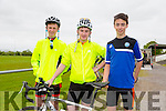 Kieran Griffin, mike Crimmins and Joe O'Connor at the St Kieran's GAA Cycle Tour on Sunday starting in the  Desmonds GAA Grounds