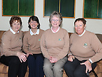 Bernie McEvoy, Mary Upton, Eithne Maguire and Elizabeth Murphy pictured at the Captain's Drive in at Seapoint golf club. Photo: Colin Bell/pressphotos.ie